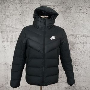 NIKE Down Puffer Jacket Hood Medium